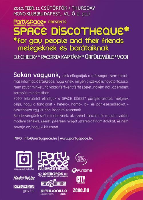 Képek: Ajánló - Új melegbarát partysorozat: Partyspace